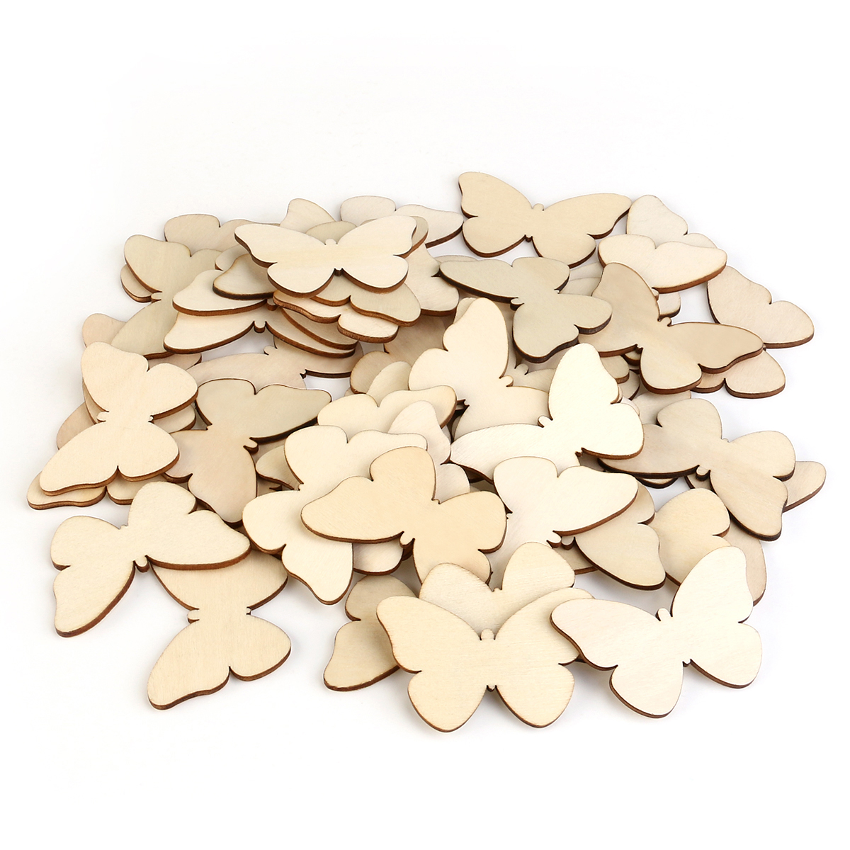 50pcs Natural Cutout Shape Wooden Butterfly Wedding Favors Party ...