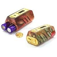 Fogger DNA250 механический блок прочная деревянная материал использование двойной 2*18650 батарея подходит для RDA RDTA электронная сигарета, пар ручка