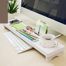 Desktop White Computer Keyboard Storage Shelf Rack Wooden Plastic Board Sundries Pen Holder Home Decor Hanger Multi-functional
