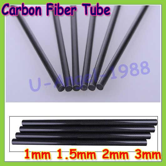 16 unids/lote varillas de fibra de carbono para Avión RC DIY herramienta ala tubo Quadcopter brazo 1mm 1,5mm 2mm 3mm 4MM 5MM 7MM (0,5 metros) venta al por mayor