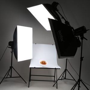 Image 4 - 900Ws Godox Strobe lampy błyskowej Studio zestaw 900 W oświetlenie fotograficzne Strobes, światła oznacza, wyzwalaczy, miękki pojemnik, ramię wysięgnika