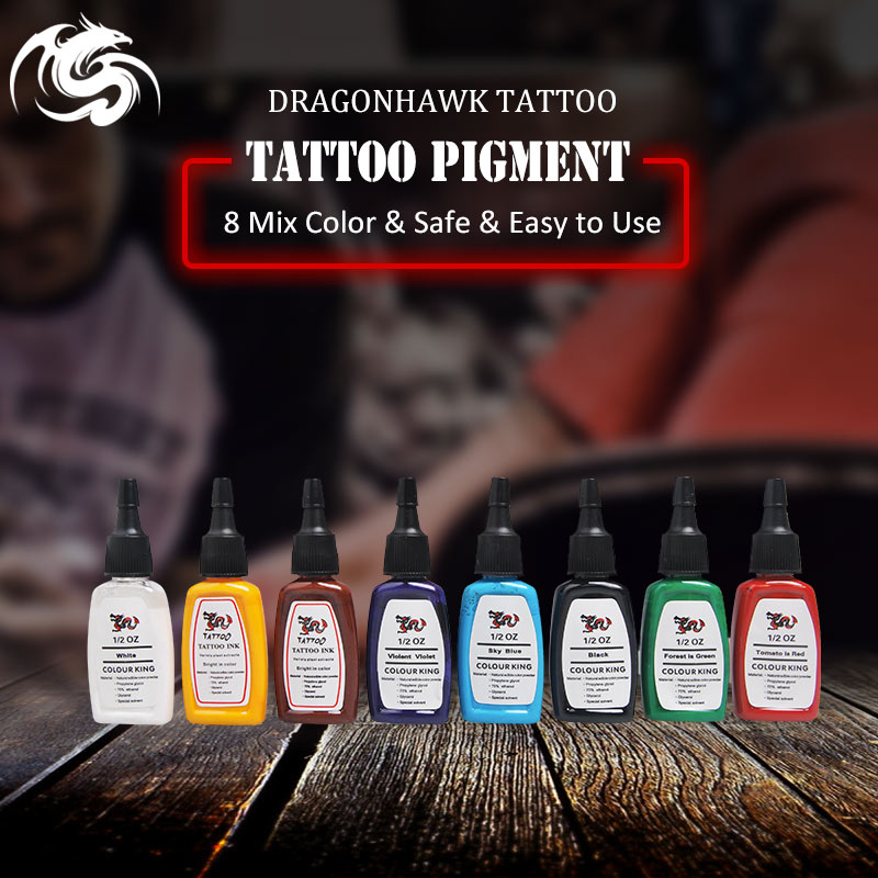 Original Ink Tattoo Pigment 8 Color 0.5 Oz 15ml Tattoo Ink Colors Bottles S