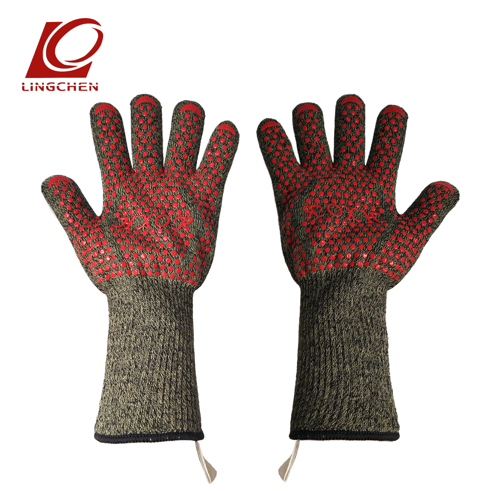 NEW Waterproof Oven Mitten Fire Resistance Flame Retardant Cooking Glove Anti-cutting BBQ Mitts Aramid Three Proofing Gloves