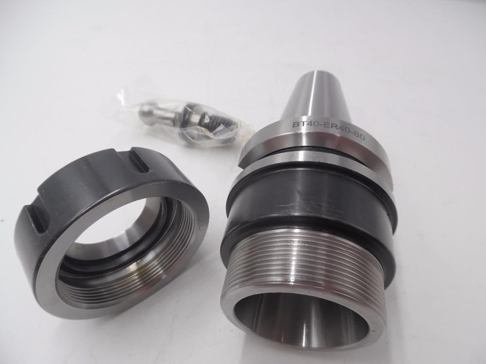 BT40 Toolholder ER40 Collet Chuck Tool Holder L80mm Max Speed 10000rpm CNC Milling New  цены