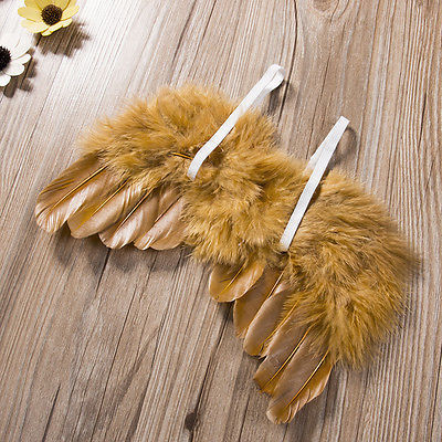2017 New  Costume Leaves Headband + Feather Angel Wings Baby Photograph 2pcs Props