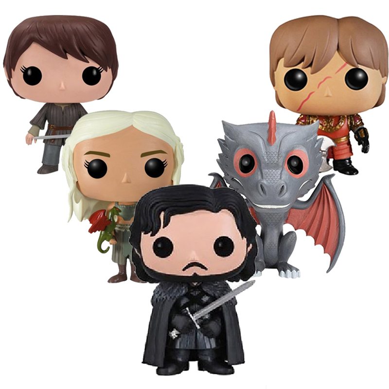 Game of Thrones Jon Snow Daenerys Targaryen Drogon Ghost Tyrion Lannister Vinyl Action & Toy Figures Children Toys Doll game of thrones jon snow wigs black curly synthetic hair
