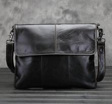 The new leather men bag Europe and the United States retro business briefcase multifunctional leather shoulder Messenger bag