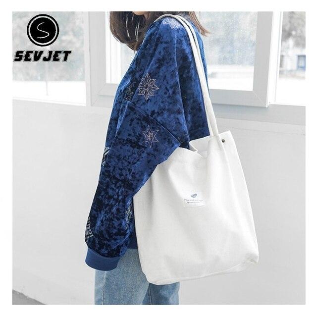dca7cb8078 2019 Women Corduroy Tote Bags Ladies Casual Shoulder Bag Foldable Reusable  Shopping Bags Female Beach Cotton Cloth Handbag CJ152