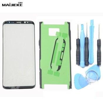MAIJIEKE OEM Écran Tactile Panneau En Verre Extra-Atmosphérique Pour Samsung Galaxy S8 Plus S9 Plus Note 8 Note 9 Avant En Verre lentille Remplacement Kits