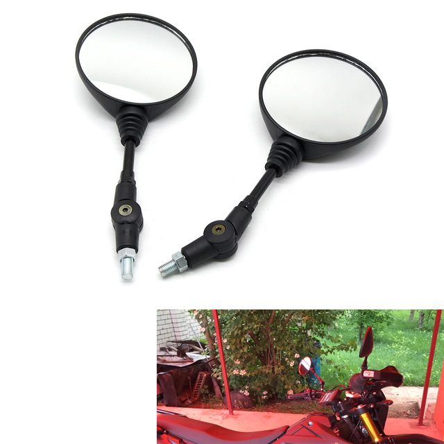 Universal Motorbike Scooter Motorcycle Side Rear Rearview Mirror 8-10mm Black Motorcycle Mirror For BMW Buell Firebolt XB9R 1000