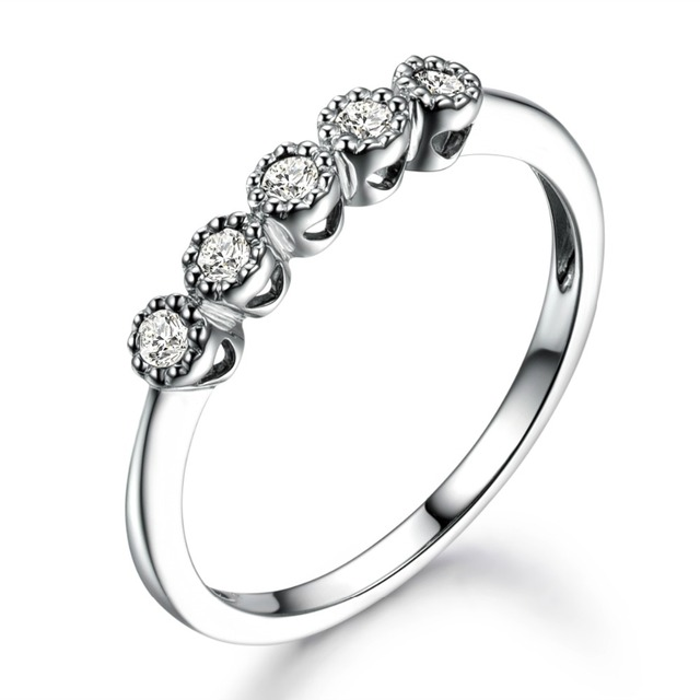 14k White Gold Natural Conflict Free Diamond Stones Antique Engagement Ring Wedding Band Anniversary Gift S