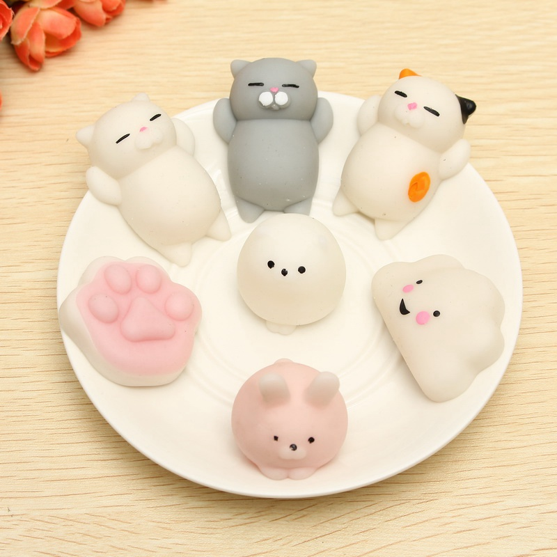 Mini Cat Kitten Soft Squeeze Cute Healing Toy Kawaii Collection Stress Reliever Gift Decor Cell Phone Straps Original Box