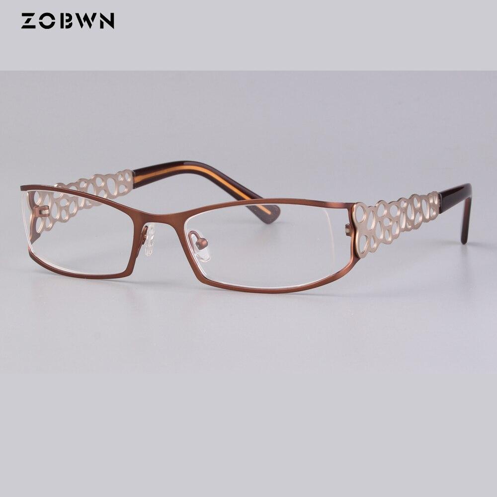 Groothandel Vrouwen optische glazen groen bruin goud Eyewear Retro metalen vintage bril kat Brillen dames Persoonlijkheid benen