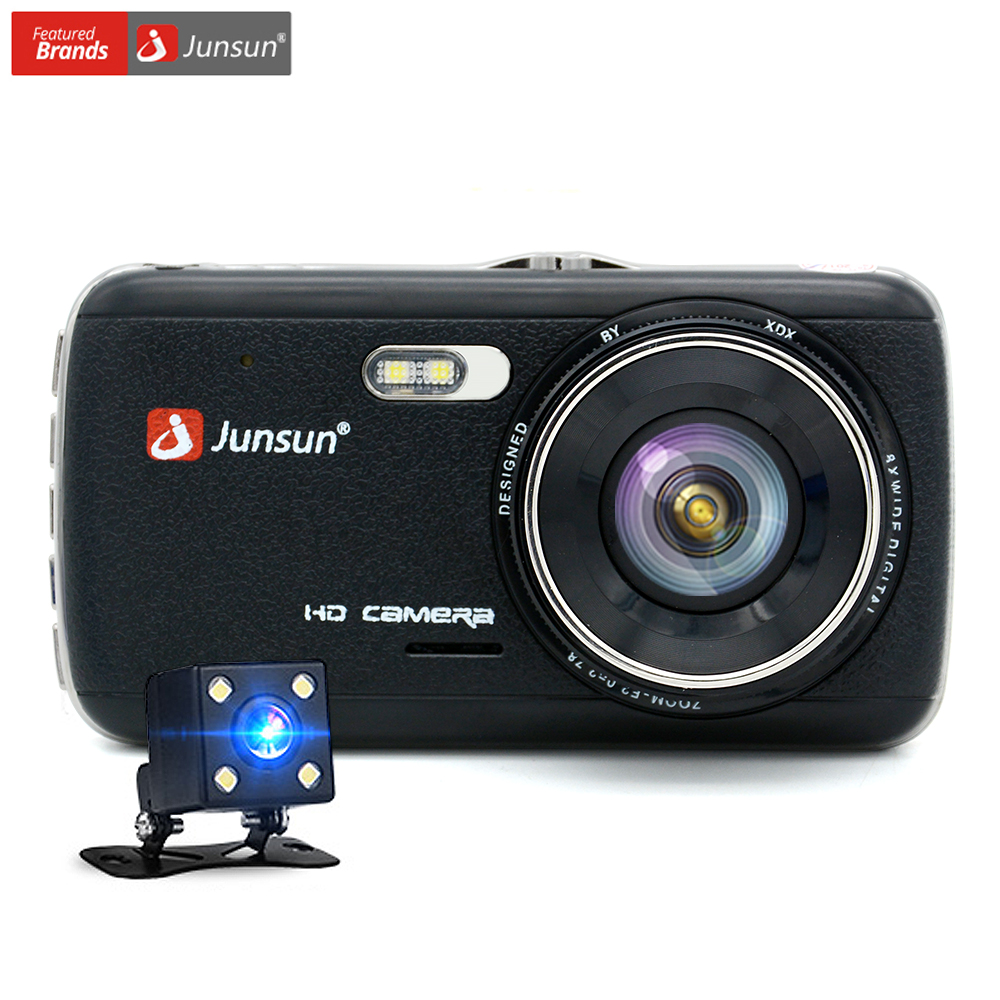 "Junsun 4.0"" IPS Car DVR Camera Dual Lens Dash Cam FHD 1080P with Rear view Auto Registrator Digital Video Recorder Camcorder"