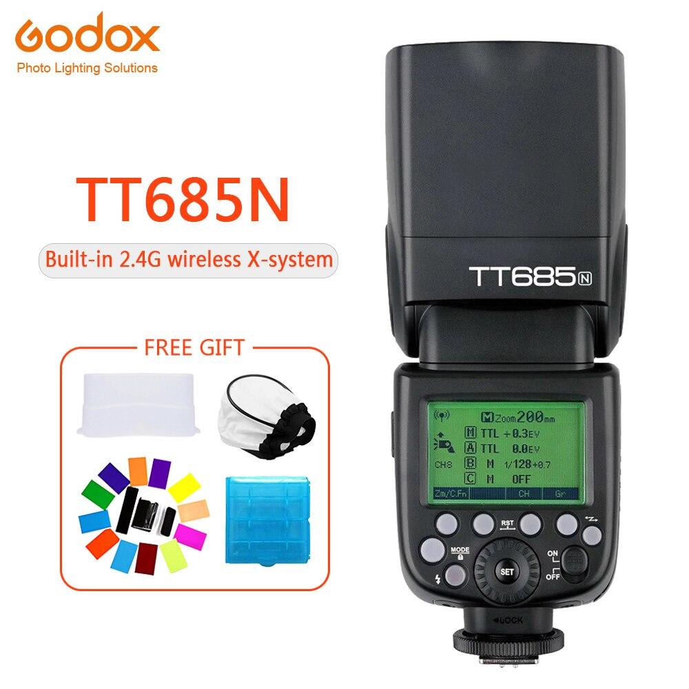 Godox TT685 TT685N Speedlite Flash Wireless TTL 2.4G Wireless HSS 1/8000s for Nikon D800 D700 D7100 D7000 Camera photographyGodox TT685 TT685N Speedlite Flash Wireless TTL 2.4G Wireless HSS 1/8000s for Nikon D800 D700 D7100 D7000 Camera photography
