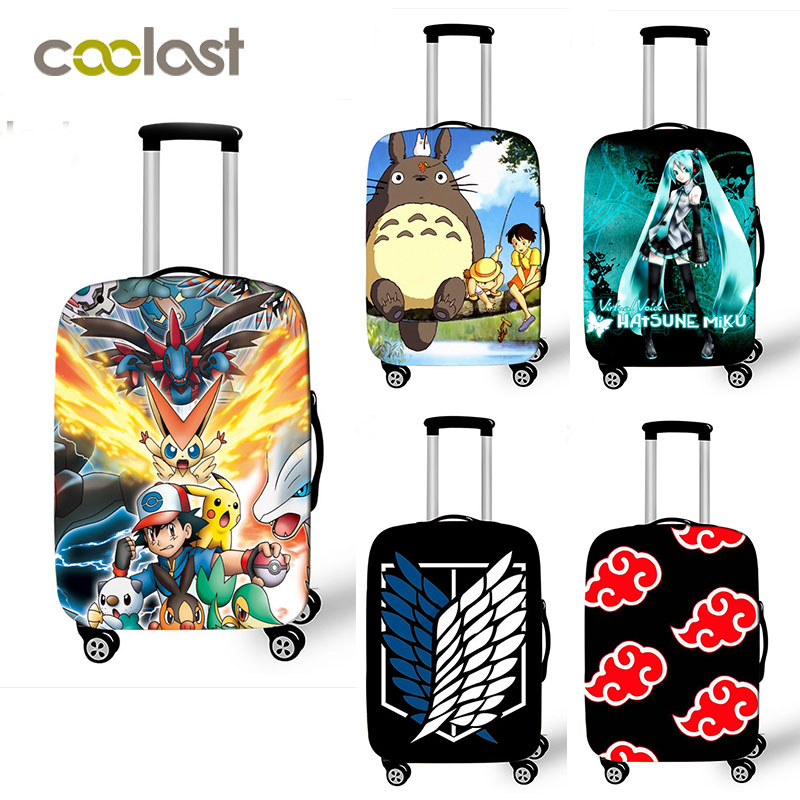 4daffb71d Anime japonés Totoro accesorios de viaje cubierta de equipaje para niñas de  18-32 pulgadas cubierta protectora de maleta con ruedas elásticas