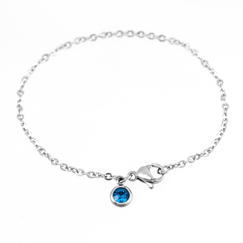 Jewellery & Watches Zodiac Lucky Color Stainless Steel Cabochon Base Tray With Birth/month Stones Women Necklace Personalized Female Choker Online Discount