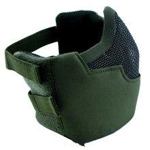 CS противогаз поле мундгард Усиленная стальная сетка половина лица защитные маски V8 Зеленая Армия оборудование для вентиляторов