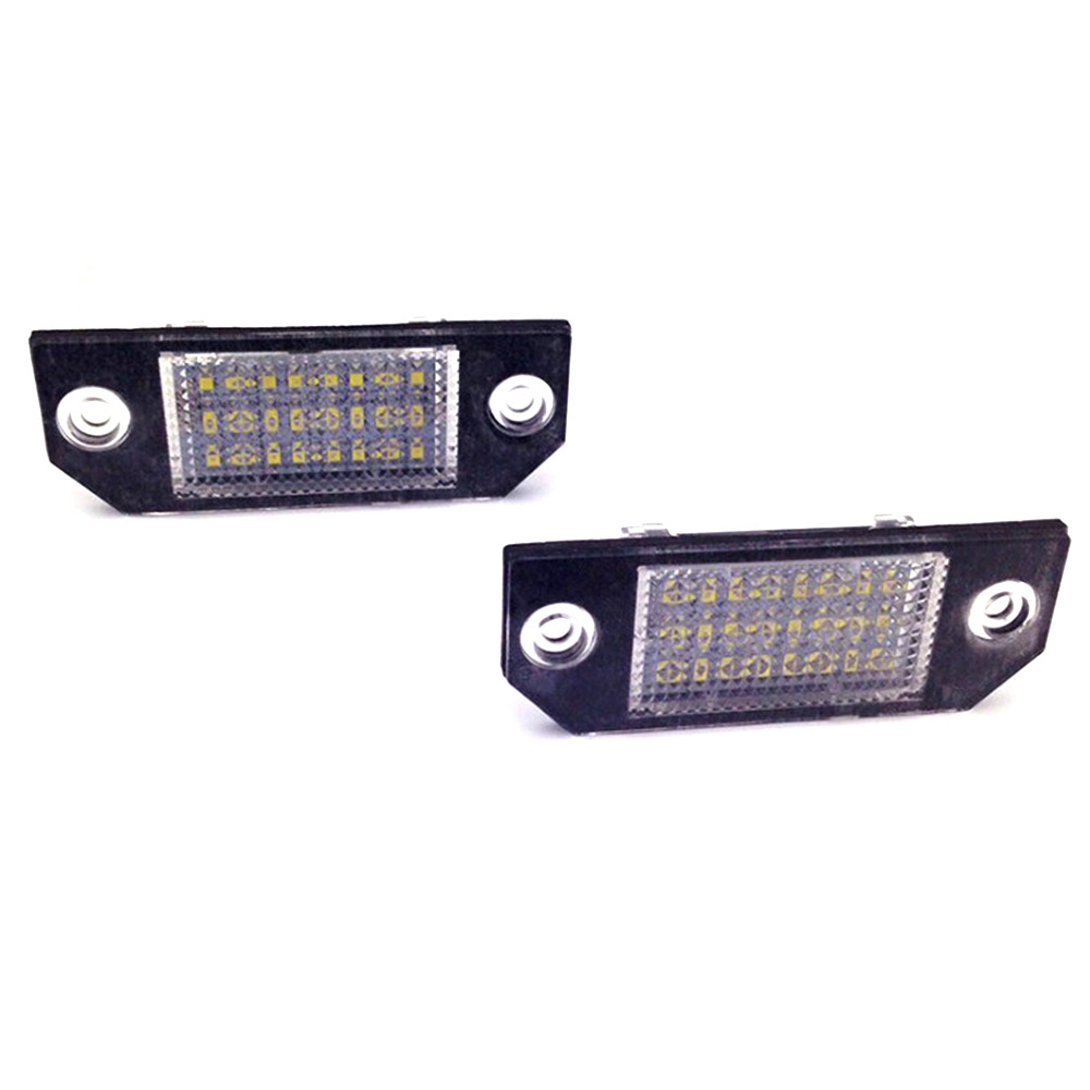 2Pcs/Set LED Number License Plate Lights Pure White Color For Ford Focus C-MAX MK2 03-08 Top Quality