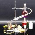 DIY Малый размер 150 мл стеклянный паровой дистиллятор эфирного масла лабораторный аппарат гидросол Дистилляция химическое учебное оборудов...