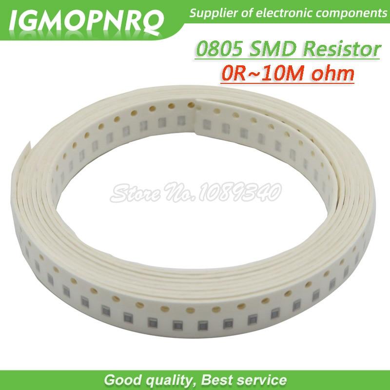 100Pcs 0805 SMD 1/4W  Resistor Resistance 0R - 10M 1.8R 10R 100R 220R 330R 470R 560R 1K 10K 47K 100K 180K 0 10 100 330 470 Ohm