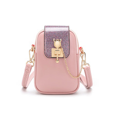 Womens Small Messenger Bags for Cell Phone Luxury Brand PVC Leather Girl mini  lovely Crossbody Bag Chains Soft Shoulder handbag