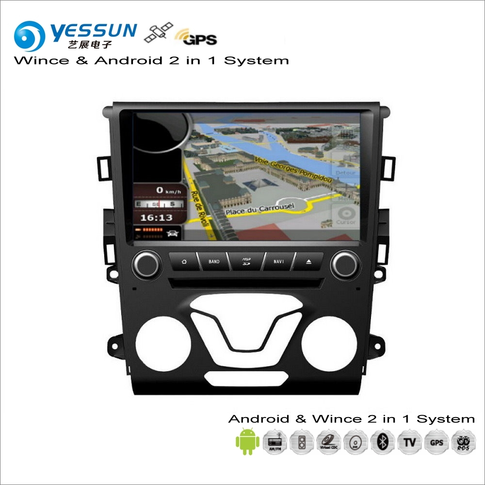 YESSUN For Ford For Mondeo / Fusion 2012~2014 Car Android Multimedia Radio CD DVD Player GPS Navi Navigation Audio Video Stereo liislee car multimedia player gps radio navigation for ford fusion for mondeo 2013 2017 original factory style audio navi