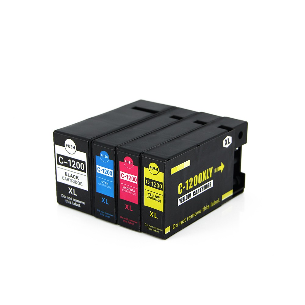 ФОТО Full ink 4 PCS  ink Cartridge For Canon PGI-1200 XL PGI 1200 PGI1200 Printer for Canon MAXIFY MB2020 MB2320 With chip
