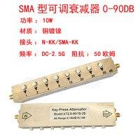 10 wsma/n rf 조절 식 감쇠기 0-90db 스텝 감쇠기/키 조절 식 감쇠기