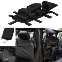 Car Interior Front Seat Cover Set Back Storage Bag For Jeep Wrangler JK 2007 2017 Multi Pockets Tool Kit Clutter Holder #CEK063