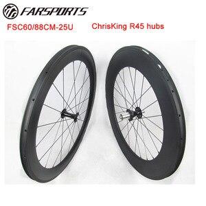 Pro road wheels Far Sports 700C, смешанные колеса 60 мм для переднего обода 88 мм для заднего топ-класса, обод колеса с концентраторами Chris King