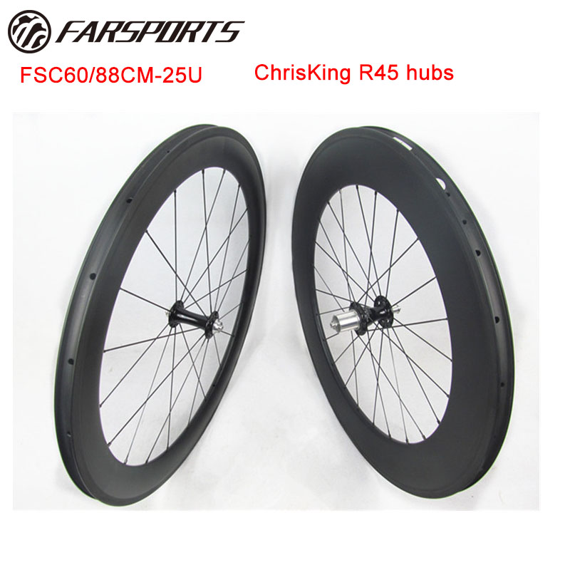 все цены на Pro road wheels Far Sports 700C mixed wheels 60mm for front rim 88mm for rear top end wheelset rim with Chris King hubs