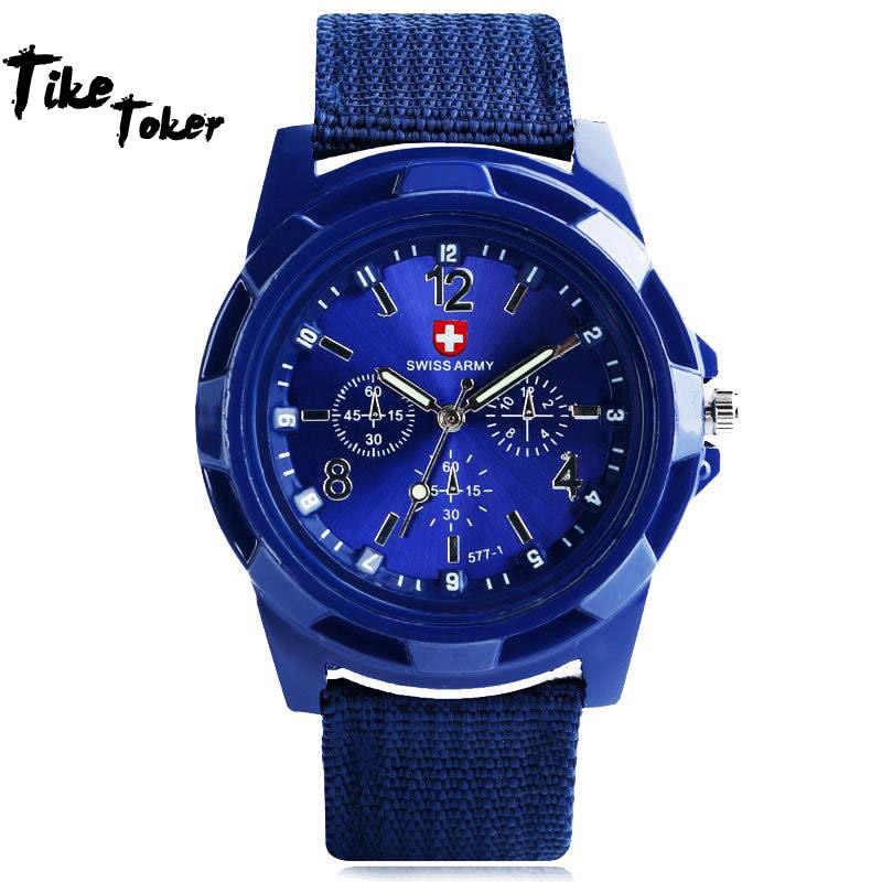 2018 New Aimecor Fashion Gemius Army Racing Force Military Sport Men Officer Fabric Band Watch New Dropshipping 11