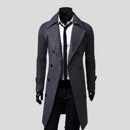 Hombres Chaqueta de Invierno Peacoat homme manteau Moda de Alta Calidad Nueva Marca de Invierno Para Hombre Cazadora Abrigos Abrigo Tres Cuartos H6973