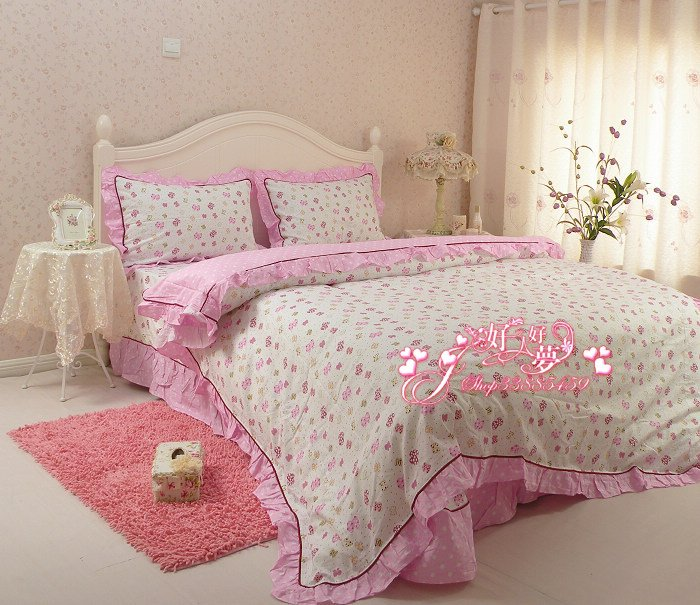 Cotton Printed Bedding Set Home Spread Bedding Butterfly Pattern Bed Sheet,  Quilt Cover And Pillow Case (4 Pcs) In Bedding Sets From Home U0026 Garden On  ...