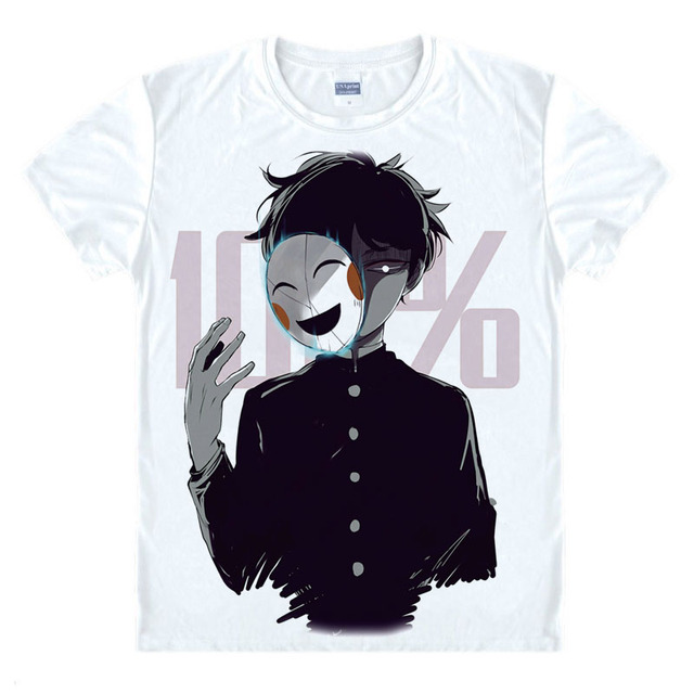 New Anime Mobu Saiko Hyaku Mob T-shirt Mob Psycho 100 t-shirt summer cotton O-NECK Tees Tops