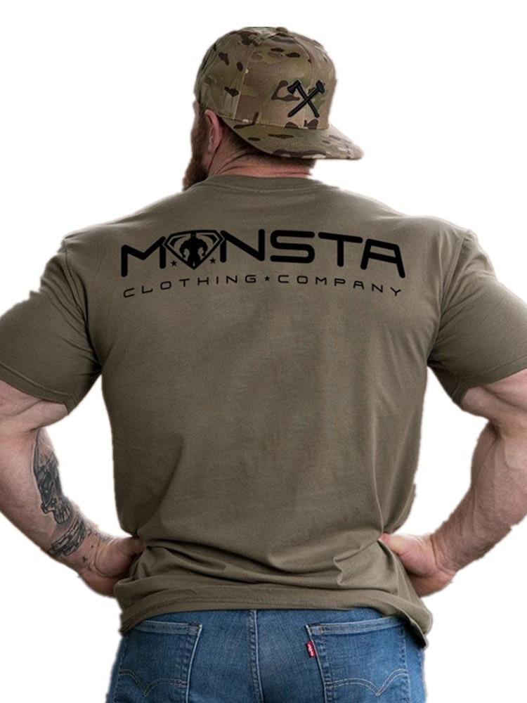 YEMEKE 2019 Men cotton   t     shirt   Fashion Personality Print   T  -  shirts   Casual Slim Tee Tops Male Gyms Fitness Bodybuilding Clothing