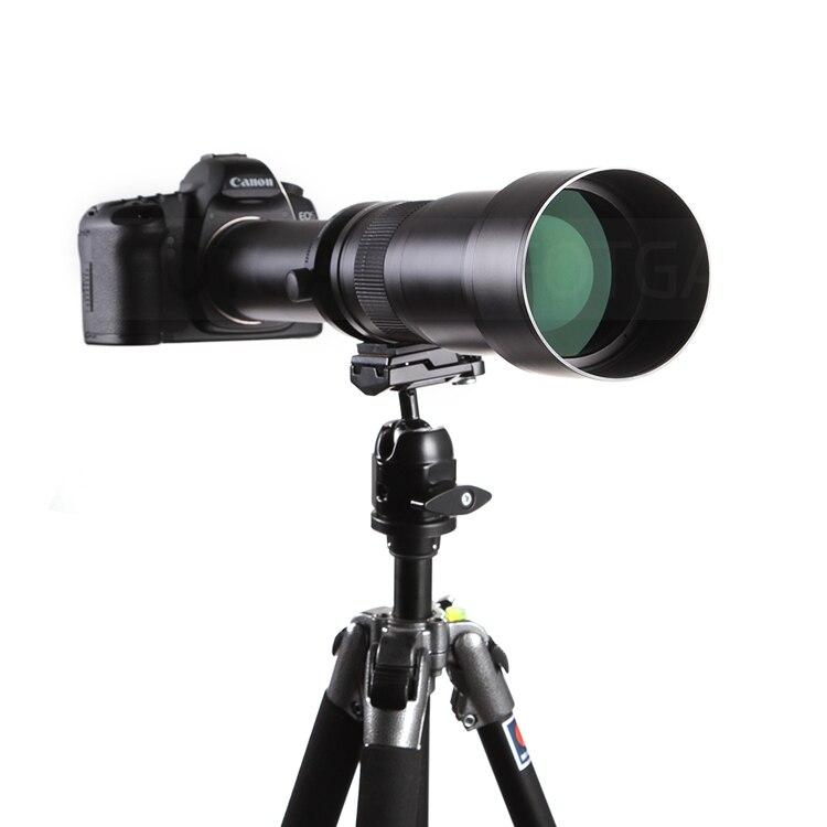 New arrivel 650-1300mm f/8-16 Telephoto Lens Manual Zoom TELE + T2 Mount Adapter for Canon DSLR Camera EF EF-S Mount Lens