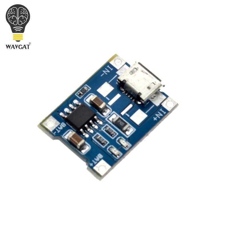 Wavgat 5V 1A Micro USB 18650 Pin Lithium Sạc Ban Sạc Mô Đun + Bảo Vệ Kép Chức Năng TP4056