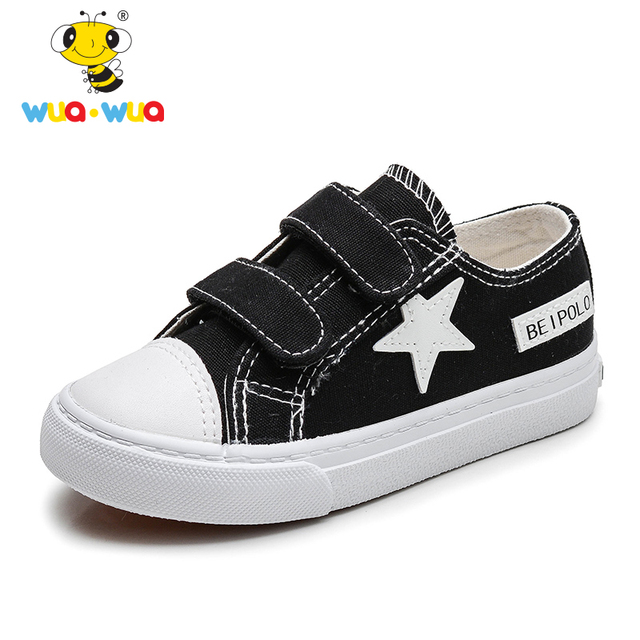 45e28fffb30 Wua Wua Children's Canvas Shoes Classic Casual Sneaker For Boy Girl  Princess Shoe Brand Kids Casual Shoes Brand Toddler Footwear