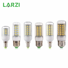 LARZI E27 LED Lamp E14 LED Bulb SMD5730 220V Corn Bulb 24 36 48 56 69 72LEDs Chandelier Candle LED Light For Home Decoration недорого