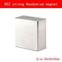 1PCS Block 50x50x30mm N52 Super Powerful Strong Rare Earth Block NdFeB Magnet Neodymium N52 Magnets