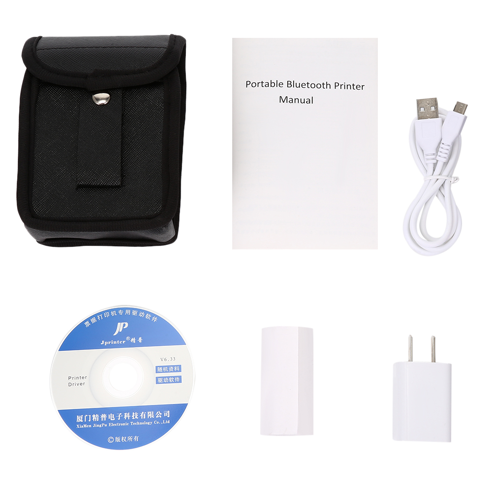 Brazil Shipping 4 PCS PT 200 Bluetooth Thermal Printer 58mm Portable Wireless for Android iOS - 6