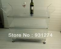 ONE LUX Mirrored acrylic modern hand carts Platform folding hand trolleys Four wheel hotel trolleys