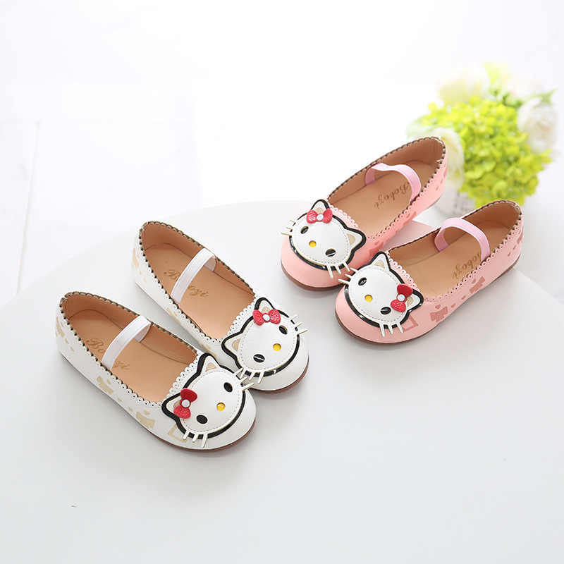 2018 Autumn New Arrival Girls Shoes Mary Janes Princess Shoes for Baby Kids  Children Flats Hello 45b85bd83ecb