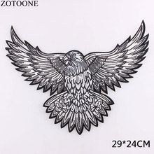 ZOTOONE Big Eagle Wings Patches Embroidered Biker Motorcycle Iron on Patch DIY for Clothes Badge Fabric for Clothes Stickers D