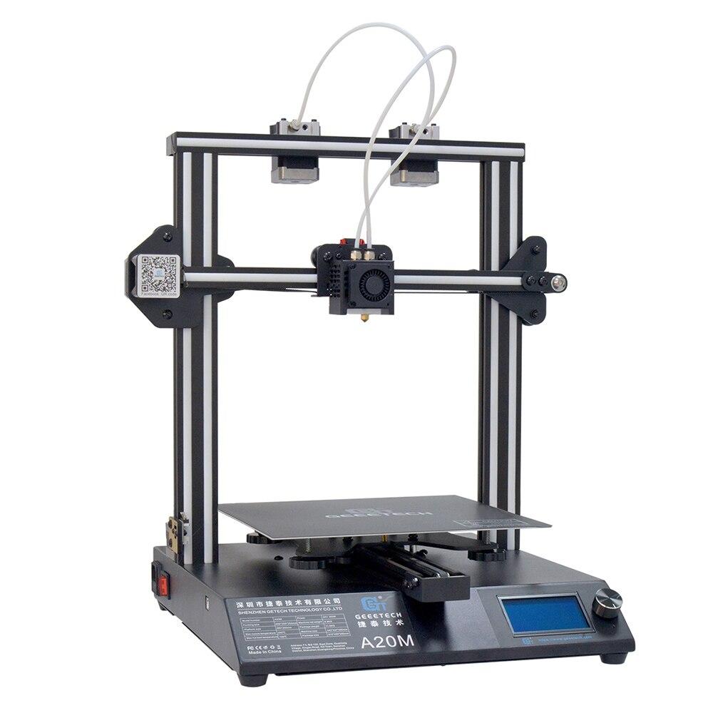 Impresora GEEETECH A20M 3D con impresión a Color, Base de construcción integrada y diseño de extrusora doble y Detector de filamentos - 5