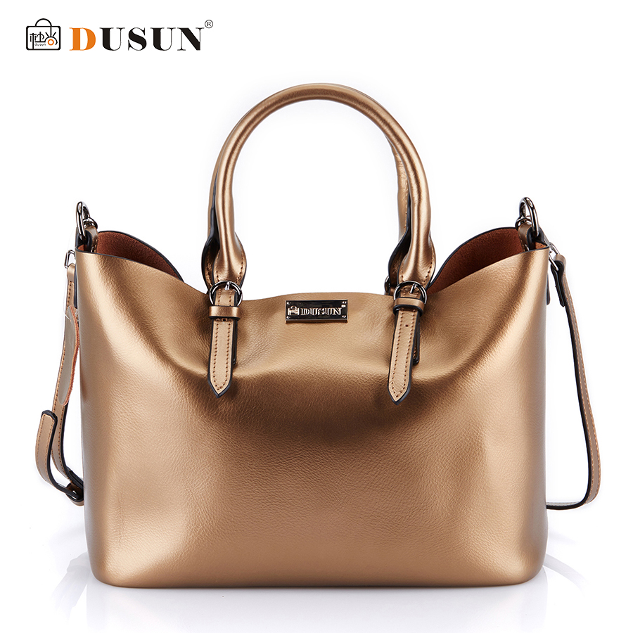 Dusun Handbags Women Messenger Bags Genuine Leather Women Bags Retro Handbags Famous Brand Fashion Casual Ladies Shoulder Bag 2017 new female genuine leather handbags first layer of cowhide fashion simple women shoulder messenger bags bucket bags