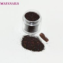 10ML/Box (0.2MM) 008inch Holographic Laser Coffee Brown Shining Fine Pigment Acrylic Nail Glitter Dust Powder