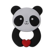 New fashion Panda Baby teether Pendant Necklace Accessory BPA Free Silicone Chew